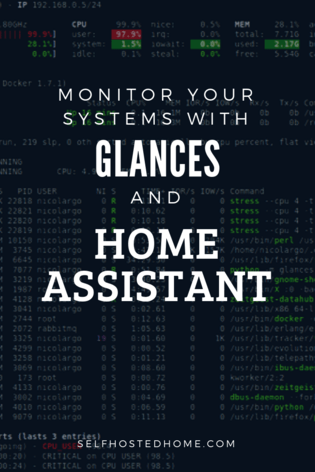 Monitor Your System with Glances and Home Assistant