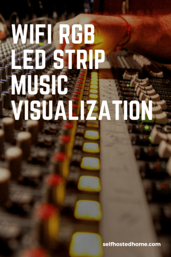 WiFi RGB LED Strip Music Visualization