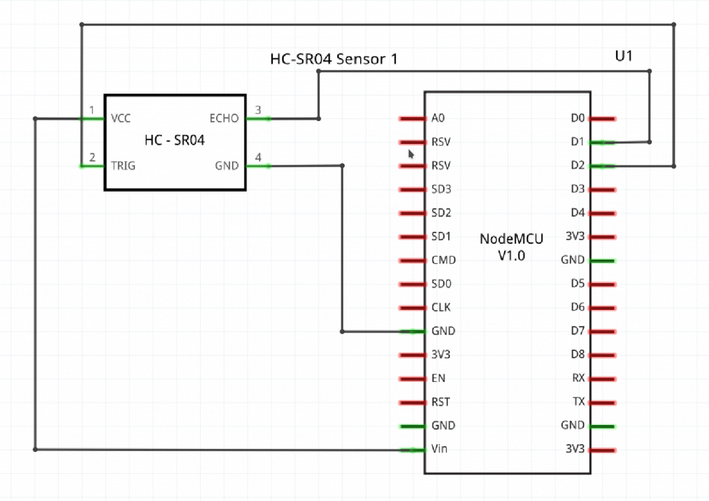 Ultrasonic Distance Sensor Schematic