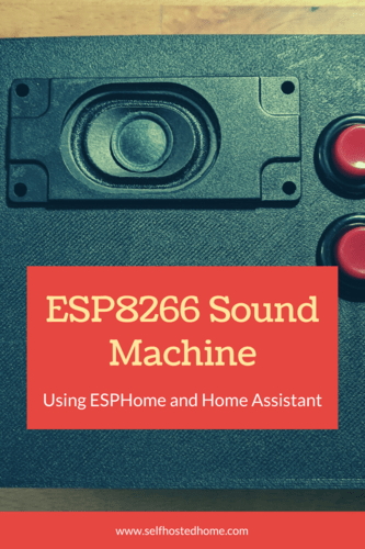 ESP8266 Sound Machine